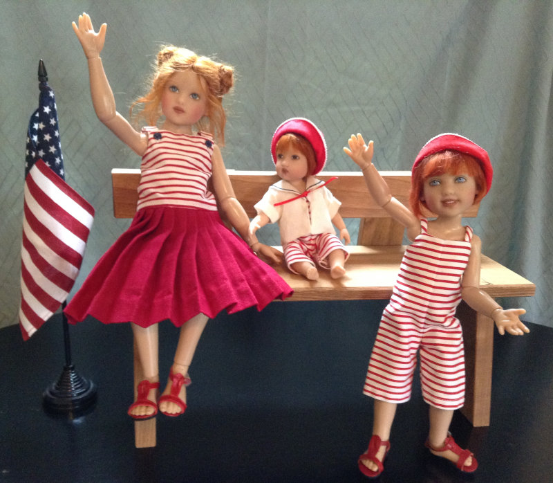 Mary Basden: Kish dolls celebrate the 4th of July.