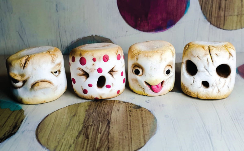 """Kane's Mutant Marshmellows will be featured in her upcoming book, """"The Craftorium of Professor Kane."""""""