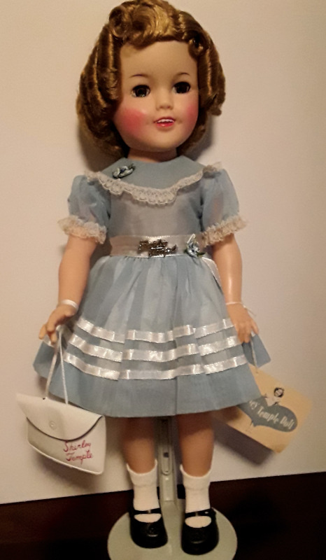 This 17-inch vinyl Shirley Temple doll from Ideal is in mint condition.