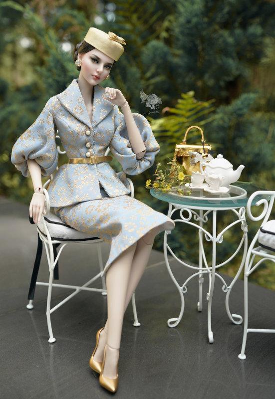 Lam dressed for tea