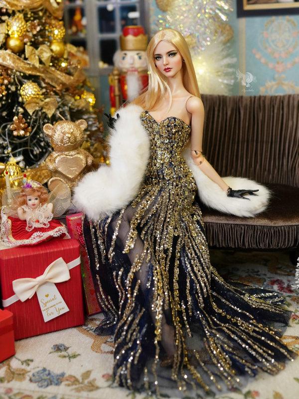 Lam in festive dress