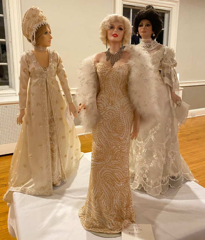 From left: Barbara Streisand and Marilyn Monroe by Crees and Coe; Sofia Loren by Marilyn Houchen.