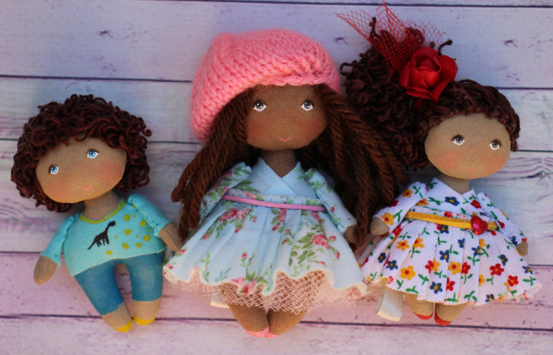 Three Moppet dolls