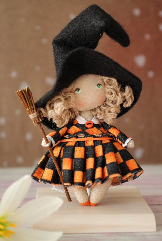 Moppet Doll in witch outfit