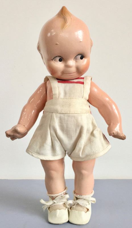 A composition Kewpie doll, ca. 1940, created by Rose O'Neill and designed by Joseph Kallus. Photo courtesy of the Foulke Archives