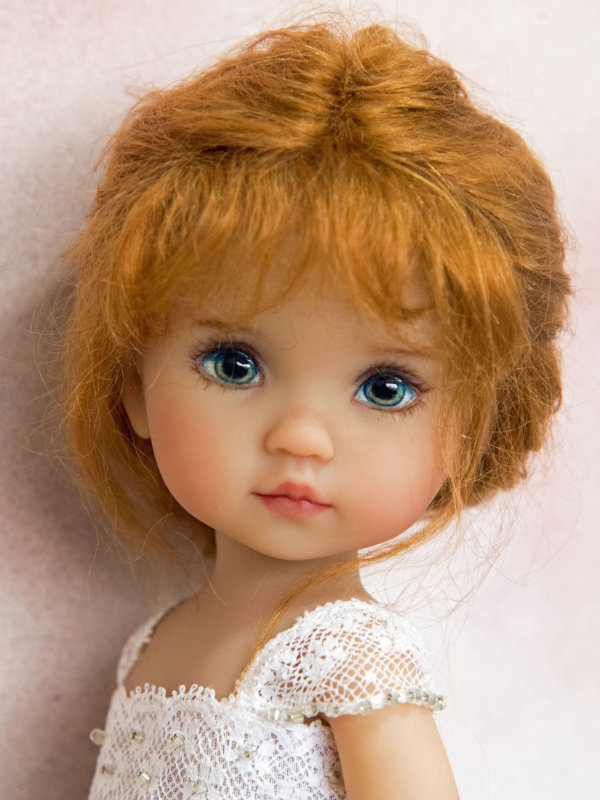 There are certain Dianna Effner dolls that Joyce Mathews paints on a regular basis, including this Boneka vinyl Tuesday's Child doll sculpted by Effner in 2006.