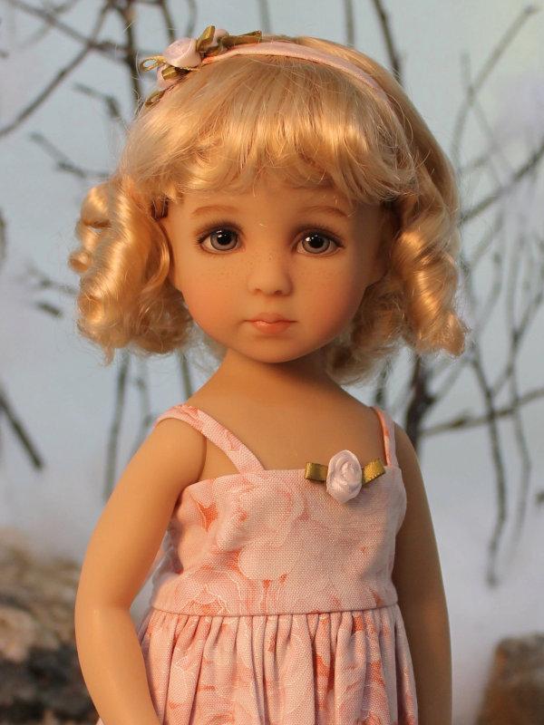 A Little Darling Sadie doll painted by Magalie Dawson. Photo by Bennett Dawson