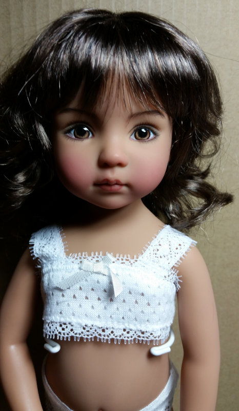 One of many Dianna Effner dolls painted by Geri Uribe.