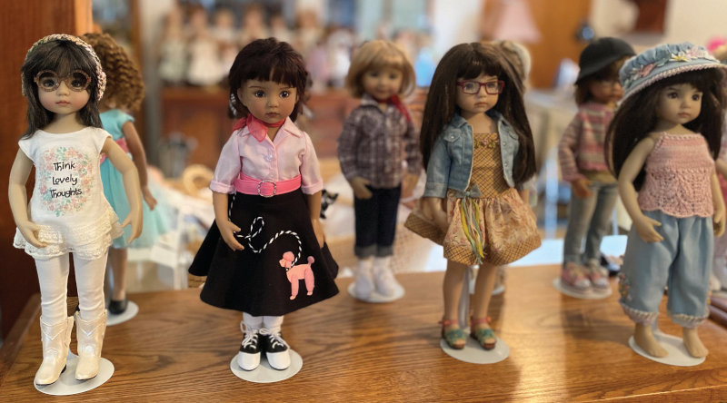 Dolls from the late Dianna Effner's collection