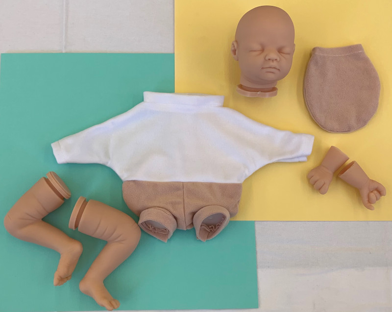 The blank puppet kit — finished puppet/dolls will also be available from MacPherson Arts & Crafts.
