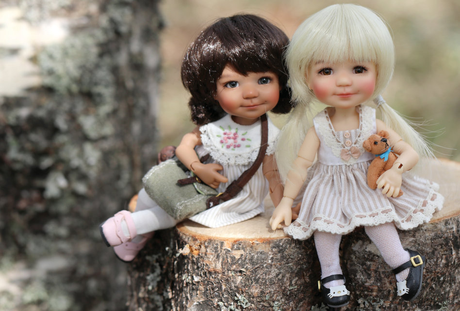 """Bailey, sculpted to twinkle size, was a much sought-after doll. """"After many requests, we are offering Bailey in Twinkle size [6.3 inches],"""" Brodlova said. """"Bailey as a big 18-inch doll was sculpted from a child's picture. We met the real Bailey at a doll convention — that was a lot of fun!"""""""